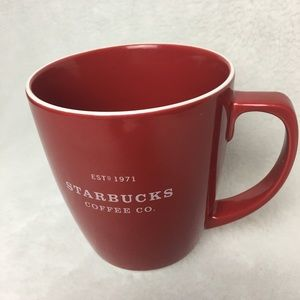 2007 Starbucks Coffee Co 18 ounces Red Coffee Mug